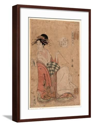 Wakanaya Uchi Shiratsuyu-Hosoda Eishi-Framed Art Print