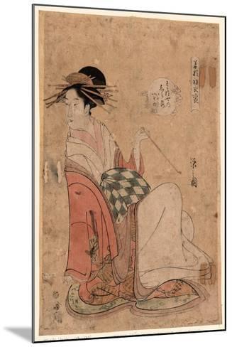 Wakanaya Uchi Shiratsuyu-Hosoda Eishi-Mounted Giclee Print