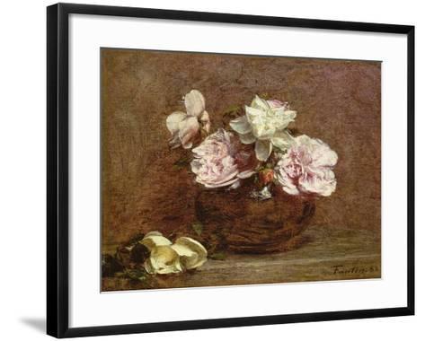 Roses of Nice, 1882-Ignace Henri Jean Fantin-Latour-Framed Art Print