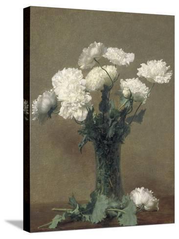 Poppies, 1891-Ignace Henri Jean Fantin-Latour-Stretched Canvas Print