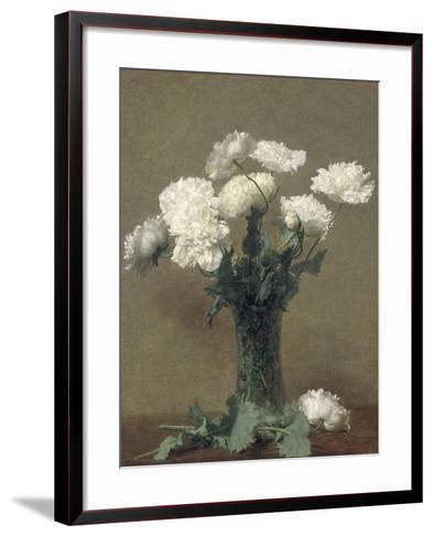 Poppies, 1891-Ignace Henri Jean Fantin-Latour-Framed Art Print