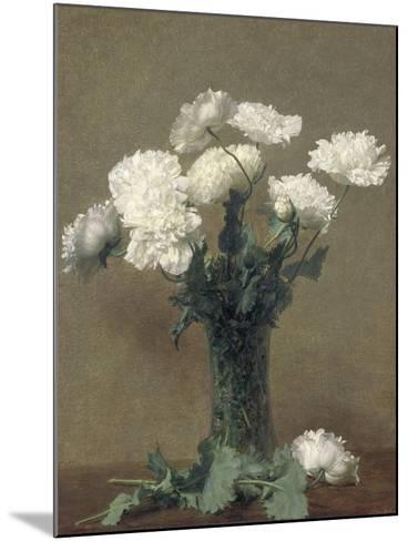 Poppies, 1891-Ignace Henri Jean Fantin-Latour-Mounted Giclee Print