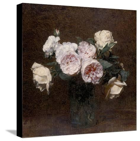 Still Life: Pink, White and Yellow Roses, 1894-Ignace Henri Jean Fantin-Latour-Stretched Canvas Print