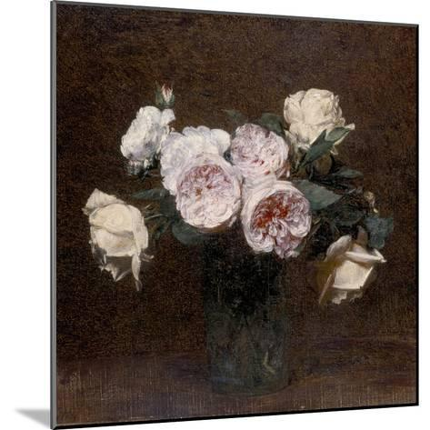 Still Life: Pink, White and Yellow Roses, 1894-Ignace Henri Jean Fantin-Latour-Mounted Giclee Print