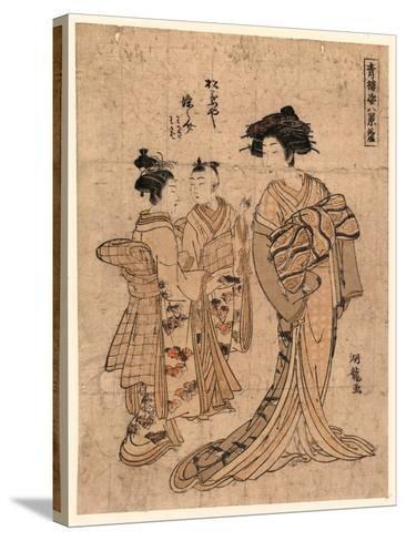 Rakugan Matsubaya Somenosuke-Isoda Koryusai-Stretched Canvas Print