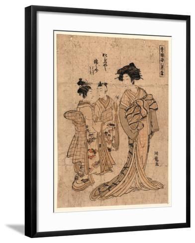 Rakugan Matsubaya Somenosuke-Isoda Koryusai-Framed Art Print