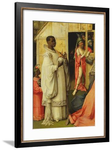 The Adoration of the Magi, Detail of One of the Kings, 1510 (Detail of 3427)-Hieronymus Bosch-Framed Art Print