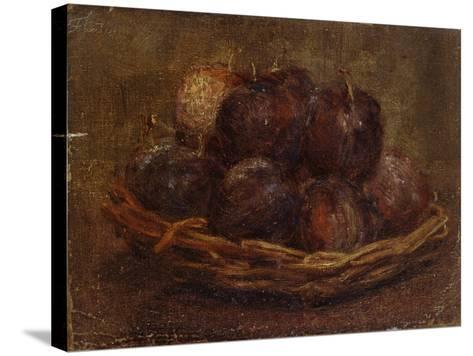 A Basket of Plums, 1869 - 1869-Ignace Henri Jean Fantin-Latour-Stretched Canvas Print