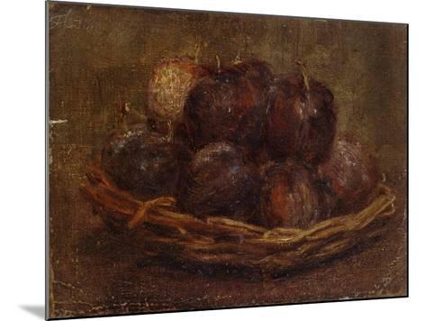 A Basket of Plums, 1869 - 1869-Ignace Henri Jean Fantin-Latour-Mounted Giclee Print
