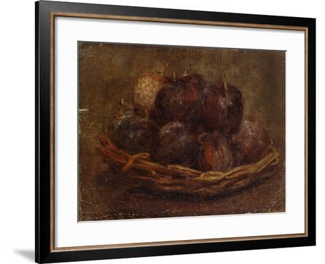 A Basket of Plums, 1869 - 1869-Ignace Henri Jean Fantin-Latour-Framed Art Print