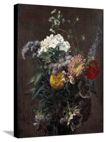 Still Life: Mixed Flowers-Ignace Henri Jean Fantin-Latour-Stretched Canvas Print