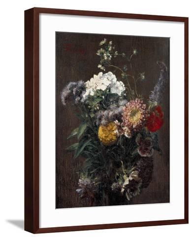 Still Life: Mixed Flowers-Ignace Henri Jean Fantin-Latour-Framed Art Print