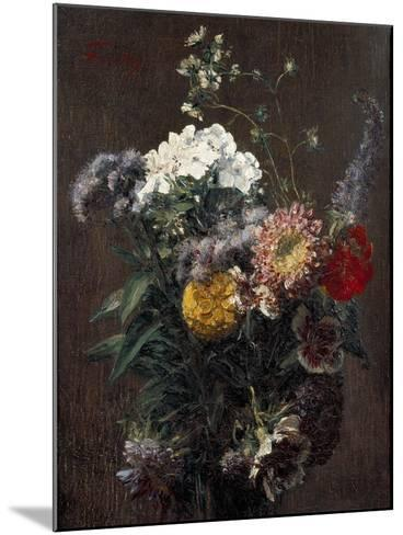 Still Life: Mixed Flowers-Ignace Henri Jean Fantin-Latour-Mounted Giclee Print