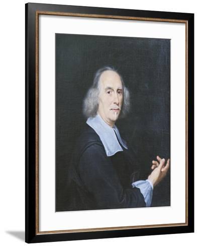 Portrait of Gian Lorenzo Bernini-Il Baciccio-Framed Art Print