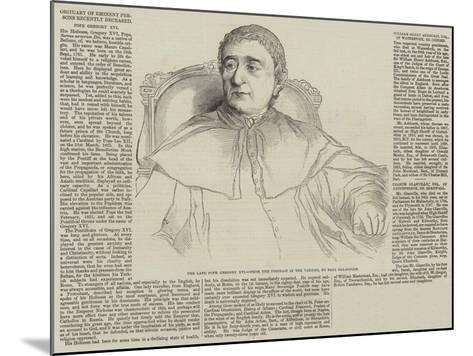 Obituary of Eminent Persons Recently Deceased-Hippolyte Delaroche-Mounted Giclee Print