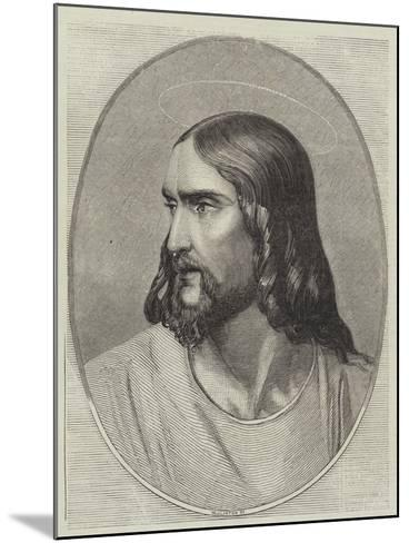 Head of the Saviour-Hippolyte Delaroche-Mounted Giclee Print