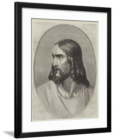 Head of the Saviour-Hippolyte Delaroche-Framed Art Print