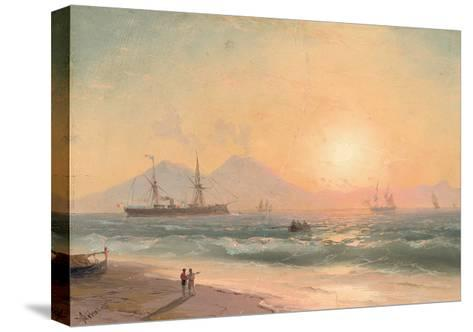 Watching Ships at Sunset-Ivan Konstantinovich Aivazovsky-Stretched Canvas Print