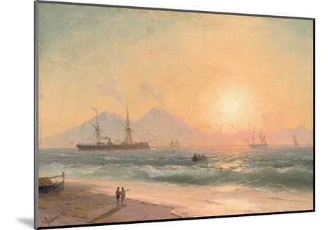 Watching Ships at Sunset-Ivan Konstantinovich Aivazovsky-Mounted Giclee Print