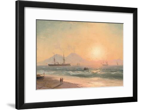 Watching Ships at Sunset-Ivan Konstantinovich Aivazovsky-Framed Art Print