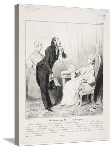 Un Homme Sensible (Caricaturana 43)-Honore Daumier-Stretched Canvas Print