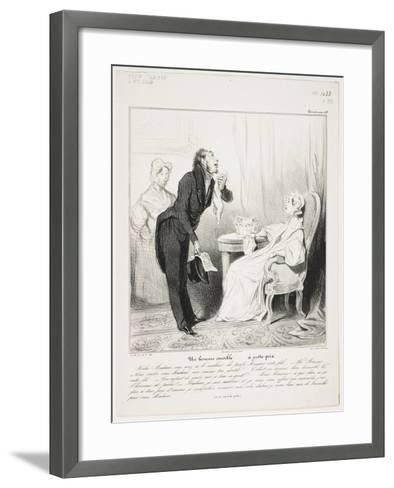 Un Homme Sensible (Caricaturana 43)-Honore Daumier-Framed Art Print