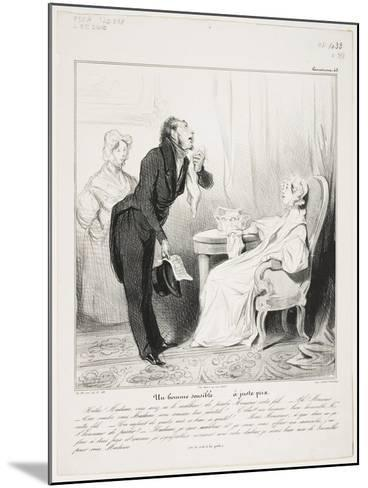 Un Homme Sensible (Caricaturana 43)-Honore Daumier-Mounted Giclee Print