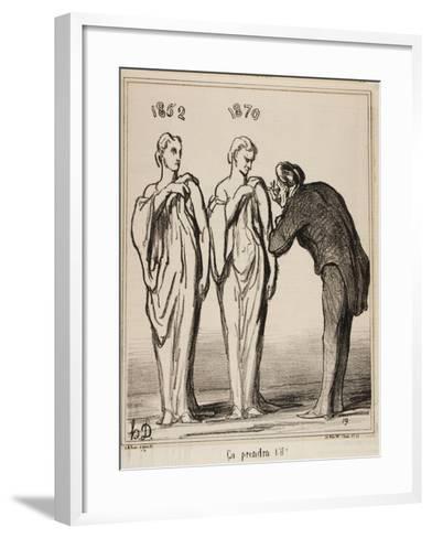 Ça Prendra T'-Il!, 1870-Honore Daumier-Framed Art Print