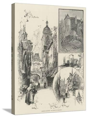 Rambling Sketches, Our Artist in Normandy-Herbert Railton-Stretched Canvas Print