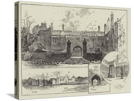 Hoghton Tower in Lancashire-Herbert Railton-Stretched Canvas Print