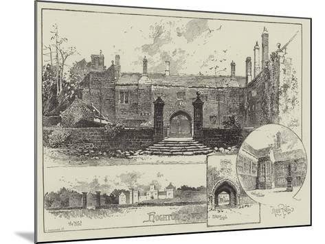 Hoghton Tower in Lancashire-Herbert Railton-Mounted Giclee Print