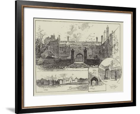 Hoghton Tower in Lancashire-Herbert Railton-Framed Art Print