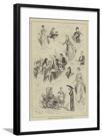 Distribution of Prizes at the London Academy of Music-Horace Morehen-Framed Art Print