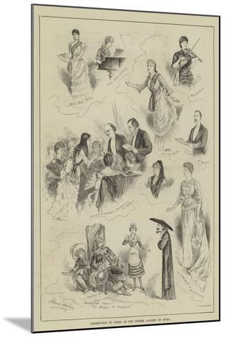 Distribution of Prizes at the London Academy of Music-Horace Morehen-Mounted Giclee Print