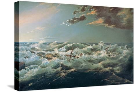The Admella Wrecked, Cape Banks, 6th August, 1859-James Shaw-Stretched Canvas Print