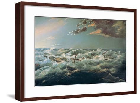 The Admella Wrecked, Cape Banks, 6th August, 1859-James Shaw-Framed Art Print
