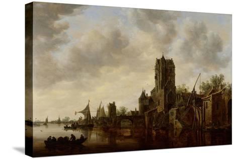 River Landscape with the Pellecussen Gate Near Utrecht, 1648-Jan Van Goyen-Stretched Canvas Print