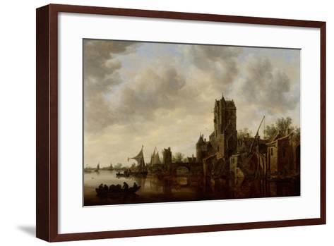 River Landscape with the Pellecussen Gate Near Utrecht, 1648-Jan Van Goyen-Framed Art Print