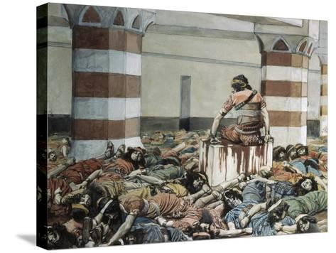 Abimelech Slays His Seventy Brethren-James Jacques Joseph Tissot-Stretched Canvas Print