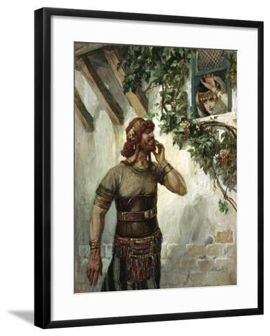 Samson Seeth Delilah at Her Window-James Jacques Joseph Tissot-Framed Art Print