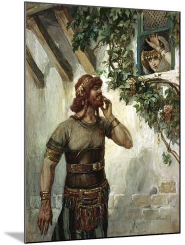 Samson Seeth Delilah at Her Window-James Jacques Joseph Tissot-Mounted Giclee Print