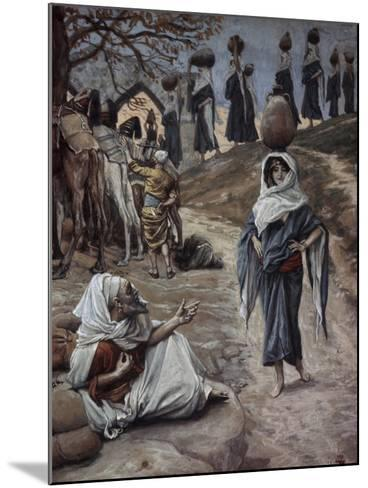 Abraham's Servant Meets Rebecca-James Jacques Joseph Tissot-Mounted Giclee Print