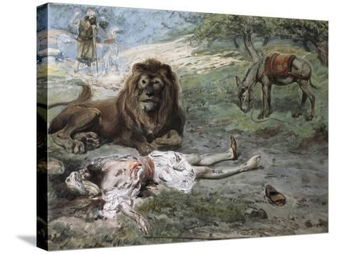 The Prophet Slain by the Lion-James Jacques Joseph Tissot-Stretched Canvas Print