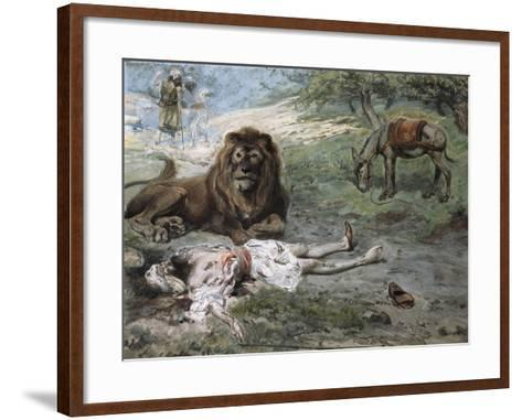 The Prophet Slain by the Lion-James Jacques Joseph Tissot-Framed Art Print