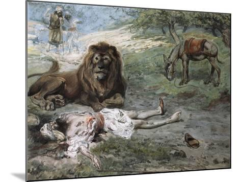 The Prophet Slain by the Lion-James Jacques Joseph Tissot-Mounted Giclee Print