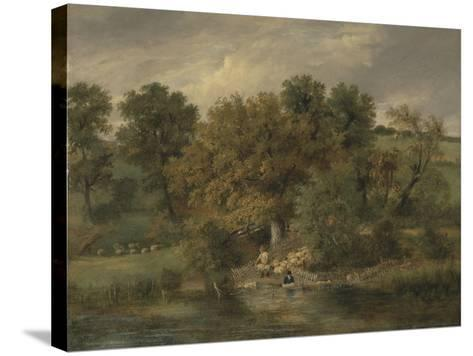 Sheep Washing at Postwick Grove, Norwich, C.1822-James Stark-Stretched Canvas Print