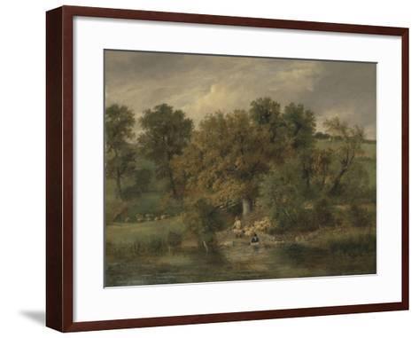 Sheep Washing at Postwick Grove, Norwich, C.1822-James Stark-Framed Art Print