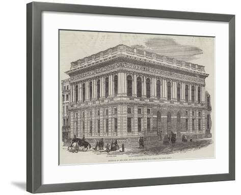 Exterior of the Army and Navy Club-House, Pall-Mall-J^l^ Williams-Framed Art Print