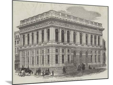 Exterior of the Army and Navy Club-House, Pall-Mall-J^l^ Williams-Mounted Giclee Print
