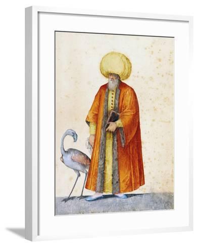 Turkish Man with Flamingo-Jacopo Ligozzi-Framed Art Print